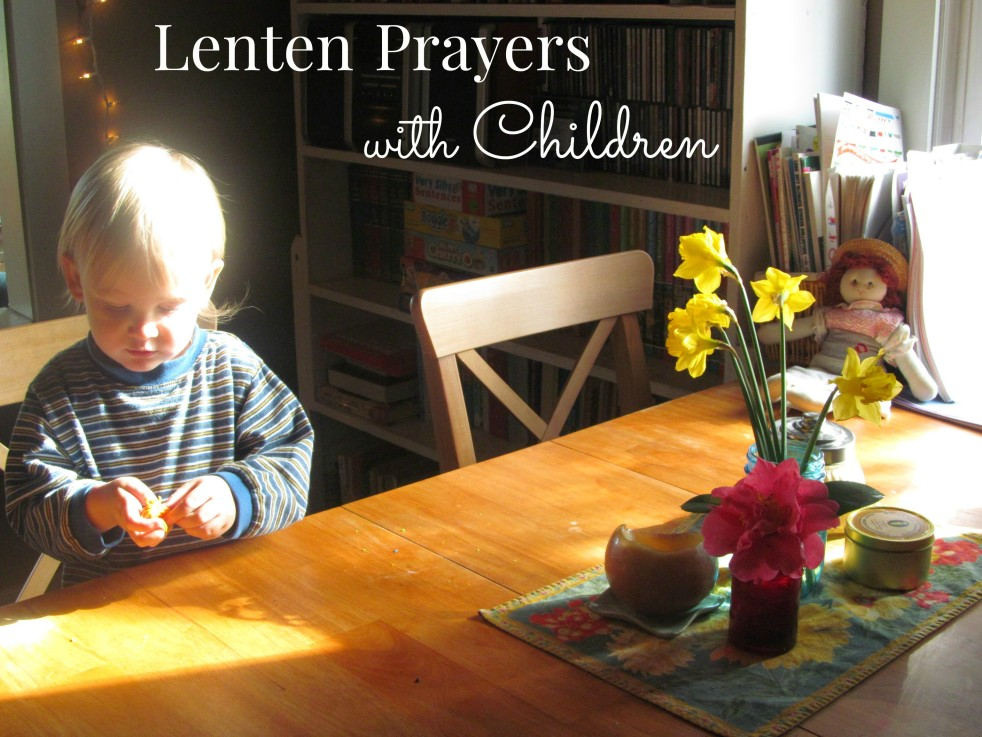 Lenten Prayers with Children