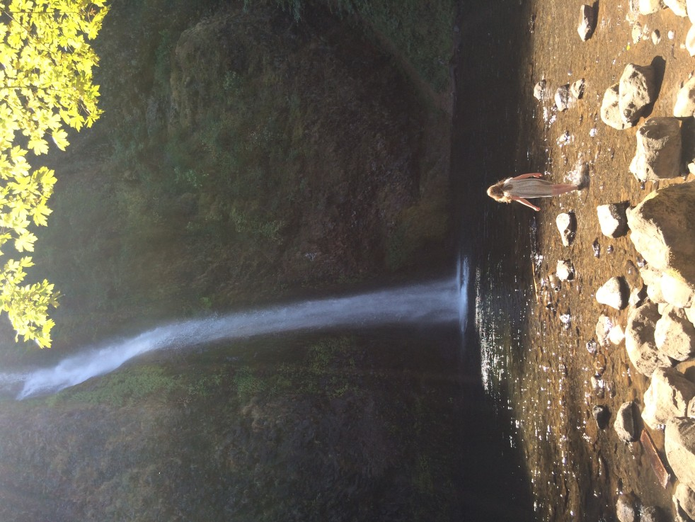 Mabel at Horsetail Falls by Jessica Poundstone